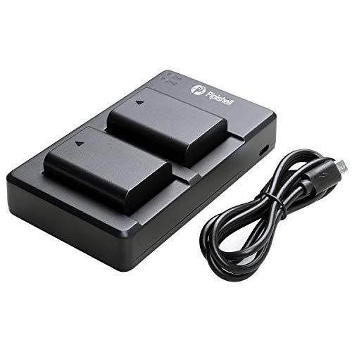 NP-FW50 Lot de 2 Batteries de Rechange et Chargeur Rapid Dual pour Appareil Photo Sony Alpha A6000, A5100, A6500, A6400, A6300, A7, A7, NEX 3/5/7 Series, SLT-A