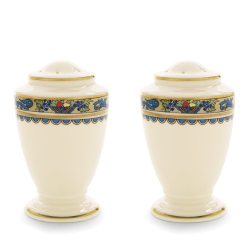 Lenox Herbst Gold-Banded Fine China erfolgt 5-teiliges Set, Knochenporzellan, elfenbeinfarben, S&P Shakers - China Fine China Shaker