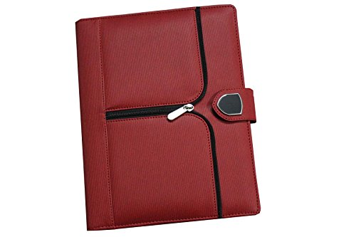 Renown Products Red Executive Attractive Diary 2018 In Unique Pattern I Magnet Lock I Natural Pages I Compartments Inside