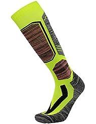 Calcetines de esquí de lana de alto rendimiento - calcetines de lana al aire libre, calcetines de snowboard para mujeres(Verde)