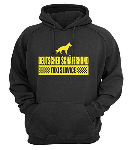 DEUTSCHER SCHÄFERHUND - TAXI - Unisex Hoodie Kapuzensweatshirt Pullover Hund Hunde Siviwonder black XXL (Kleidung Deutscher Schäferhund)