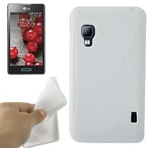 S Line TPU Case for LG Optimus L5 II E460 (White)