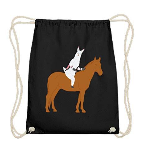 Chorchester Ideal für Pferde und Alpaka Fans - Baumwoll Gymsac -37cm-46cm-Schwarz -