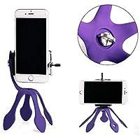 Photron Portable Flexible Mount Gekko Tripod Holder for Smartphone, Mobile Phone, Action Camera, Digital Camera, Car Holder-Wrap Around Multipurpose Design with Multipurpose Smartphone Holder (Purple)