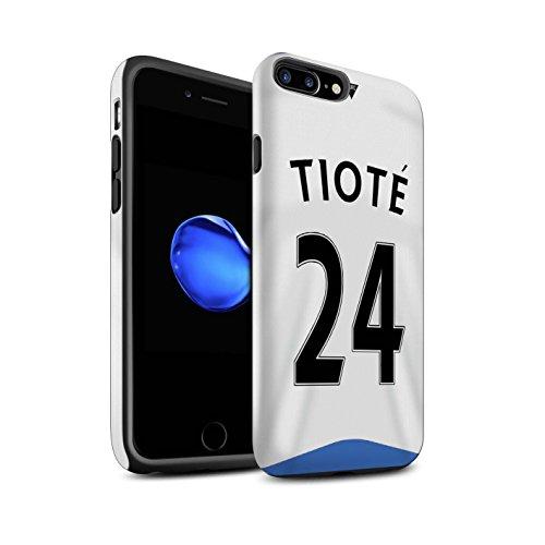 Officiel Newcastle United FC Coque / Matte Robuste Antichoc Etui pour Apple iPhone 7 Plus / Tioté Design / NUFC Maillot Domicile 15/16 Collection Tioté
