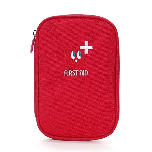 Erste Hilfe Set,Lifesport Verbandkasten Erste-Hilfe-Koffer First Aid Kit Notfalltasche Medizinisch Tasche Oxford Tuch Medicine Pouch für Haus Auto Camping Jagd Reisen Natur und Sport (Rot)