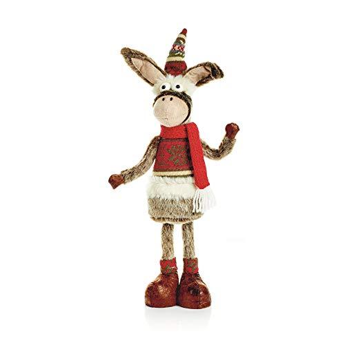 Christmas Shop - Ã'ne de Noël décoratif (Taille unique) (âne)