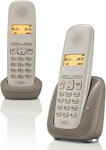 Gigaset A150 Duo DECT Caller ID Beige - Telephones (DECT telephone, Wireless handset, 50 entries, Caller ID, Beige)