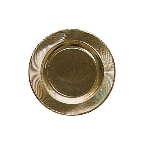 4 SOUS-ASSIETTES CARTON SOLEIL OR 32 CM