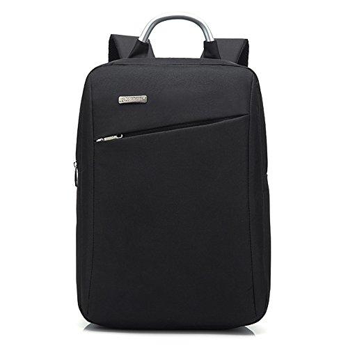 Rucksack Slim Business Laptop Rucksack Leichte Schulbeutel Wasserbeständige Rucksack Lässige Daypack mit Griff für Work College Travel von AOKE Black (Cabrio Rucksack Tote)