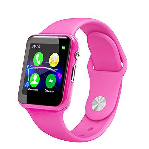 Kinder Smartwatch,Colorful Handyuhr Digitalkamera Uhr mit 1,54 Zoll HD Screen, Smartwatch für Jungen Und Mädchen mit GPS Telefon (Rosa) (Activity Baby Monitor)