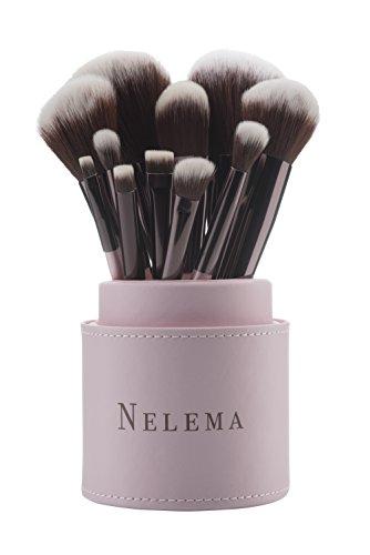Professionelles 11-tlg Make Up Pinselset von Nelema Schminkpinsel Kosmetikpinsel für Lidschatten...