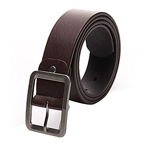 Leather belt ,Fulltime(TM) MEN'S Belts Leather Belt for Men Buckle Waist Strap Belts (Coffee)