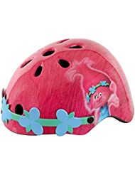 Trols chica casco de seguridad con flores diadema, Rosa, tamaño 50–54