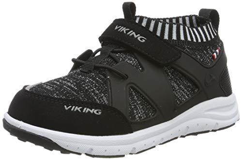 Viking Unisex-Kinder AASANE Cross-Trainer, Schwarz (Black/Grey 203), 25 EU