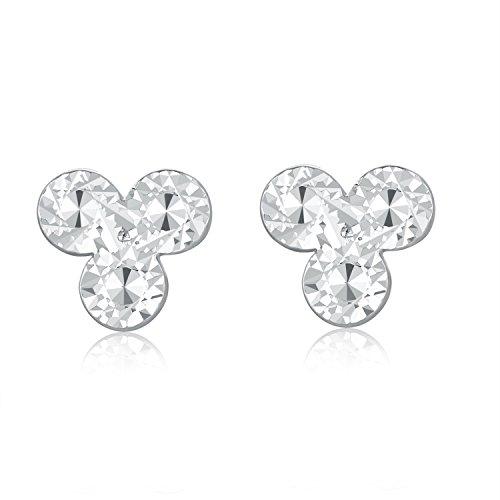 14K 585 Oro Bianco Taglio Diamante Tre