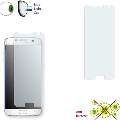 Samsung Galaxy S7 Edge Displayschutzfolie - 2x DISAGU ClearScreen Schutzfolie für Samsung Galaxy S7 Edge anti-bakteriell, Blaulicht-Filter (bewusst kleiner als das Display, da dieses gewölbt ist)