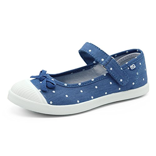SNUOEN Girls Shoes Toddler Canvas Princess Sneakers Boat Shoes