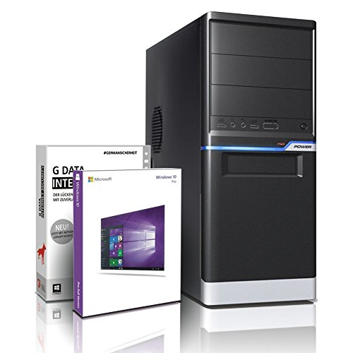 Flüster-PC AMD Quad-Core Office/Multimedia shinobee PC Computer mit 3 Jahren Garantie! inkl. Windows10 Professional - AMD Quad Core 4x3.80 GHz, 8GB RAM, 500GB HDD, AMD Radeon HD 3000, 6xUSB, DVI, VGA, Office #5424 Desktop-computer-pakete