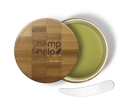 SHEA BUTTER HEIL-SALBE 100% BIO für trockene, entzündete, rissige Haut, Schuppenflechte und Narben mit feuchtigkeitsspendender Hānf Ol-Olivenöl-Bienenwachs-Arganöl-JojobaIöl-100ml KÖRPER-CREME - Hanf Kopfhaut Behandlung