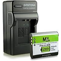 Chargeur + Batterie Li-90B pour Olympus Stylus Creator XZ-2   Stylus Traveller SH-50   Stylus SZ-15   Stylus Tough TG-1   TG-2