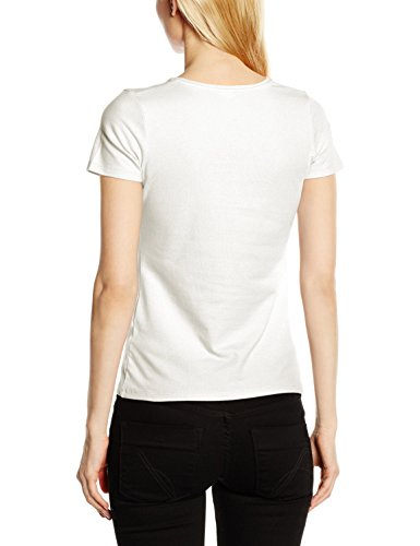 Fruit of the Loom Ss082m, T-Shirt Femme Blanc