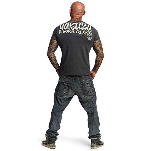 Yakuza Original Herren King Of Lies T-Shirt Dark Shadow