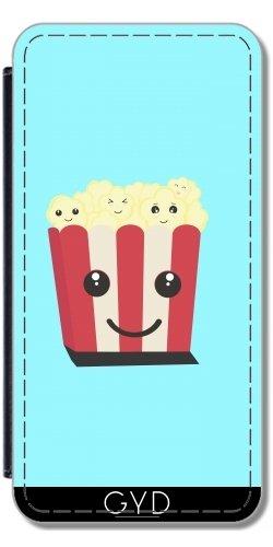 DesignedByIndependentArtists Leder Flip Case Tasche Hülle für Apple iPhone 5C - Popcorn Kawaii by Ilovecotton - 5c Iphone Case-kino