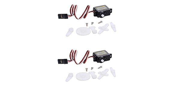 Homyl 2X P0050 5g Engrenage Micro Direction Servo Kits de Moteur en Plastique pour Bateau Avion RC