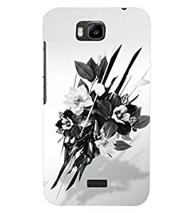 PrintDhaba FLOWER SET D-6395 Back Case Cover for HUAWEI HONOR BEE (Multi-Coloured)
