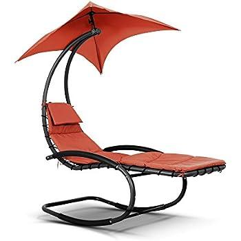 ikayaa fauteuil bascule de jardin et ext rieur chaises longues balancement avec auvent. Black Bedroom Furniture Sets. Home Design Ideas