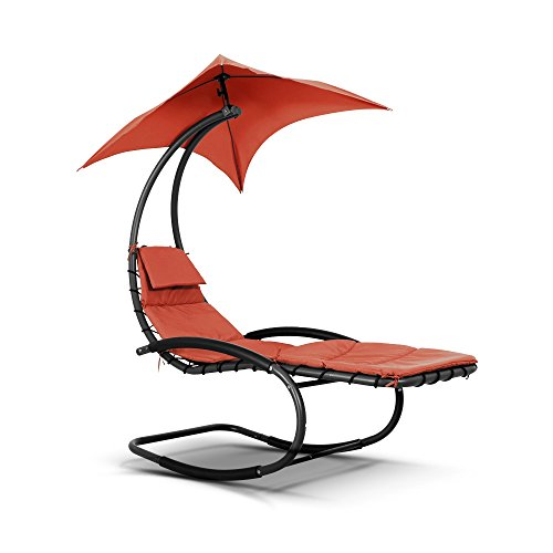 iKayaa Hammock Rocking Bed Lounger - Orange