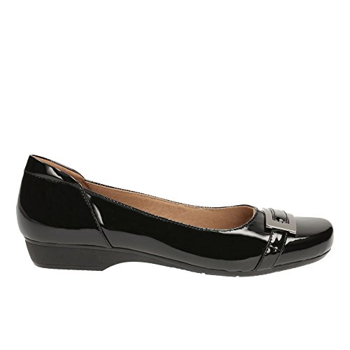 Clarks Women's Ballet Flats Pumps Shoes Blanche West Black Patent