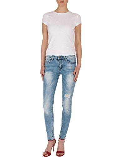 Fraternel Damen Jeans Hose normal waist slim fit used destroyed Hellblau ...