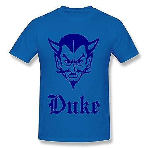 Nana Men's Tshirts Duke Devils Mascot Size S RoyalBlue