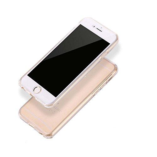 Coque Iphone 7, Lincivius®, Housse Iphone 7 Protection Souple TPU Full Cover 360 Housse Integrale Avant Et Arrière Etui Accessoires Ultra Fin Et Discret - Coloris Transparent