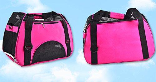 GULUDED Petcomer Reisen Auto Transportbox für Katze Hund Sicherheit Tragbare Tasche Tote Öffnung Oben Gepolsterte Mesh Pet Carrier, Zusammenklappbar (Katzen Lb-tasche 20)