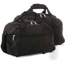 EONO Essentials Sac de Voyage Ryanair 35x20x20cm Léger Sac de Cabine, Set de Deux, Noir