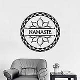 xingbuxin Stickers muraux Yoga Studio Lotus Fleur Stickers Muraux Namaste Décoration...
