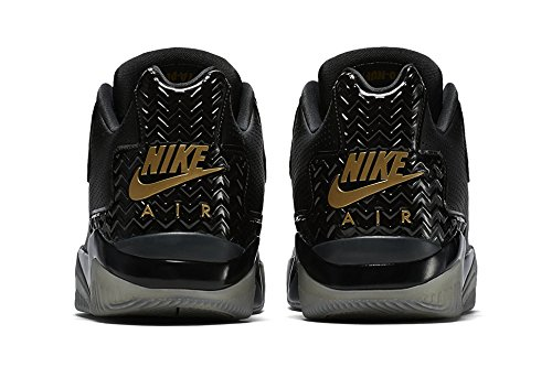 Nike Air Jordan Spike Forty Low Prm, espadrilles de basket-ball homme Noir - Negro (Black / Metallic Gold-Anthracite)