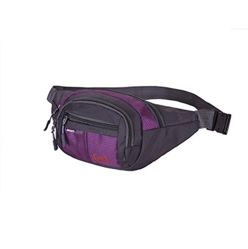 ZYPMM 2017 Männer neue Multifunktionstaschen männliche Tasche Leinwand Umhängetasche mit großer Kapazität im Freien Sporttasche Geldbeutel weibliche Kletterer Lila