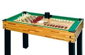 christopeit liverpool table de jeux multifonction enfants noir marron 109 x 61 x 81 cm amazon. Black Bedroom Furniture Sets. Home Design Ideas