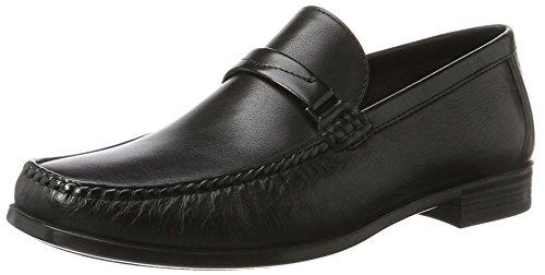 Ecco Herren Dress Moc Mokassin, Schwarz (Black), 44 EU (Schwarze Herren Dress Shoes Loafers)