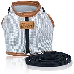 Premium Arnes para gato de PiuPet® | 1,20 m de correa de gato | Collar seguro y robusto | Tamaño: S |