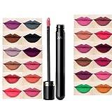 #2: Jeval Brush for Lipstick Waterproof Matte liquid lip gloss long lasting matte lipstick pen tint for lips makeup (2 PCS/Random Colour)