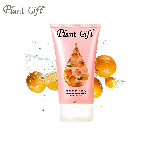 Plant Gift- Tangerine Delicate skin Facial Cleanser-Soft and smooth, brighten the skin color, from the moisturizing began to make delicate skin supple.-60g/2.12oz -