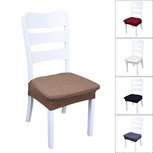 Stuhl Sitzbezüge, Yunt 5pcs Abnehmbare Elastische Esszimmerstuhl Cover  Protektoren Hocker Slipcovers