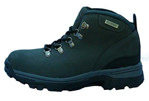 Wasserdichte, leichte Damen-Lederstiefel zum Wandern/Bergwandern/Trekking Grau