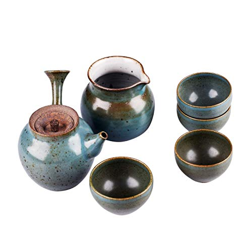 Makie-Kintsugi Pottery Society Teacup Teapot China Style Handmade Porcelain Ceramic Gift Kitchen Ware Garden Home Bedroom Set of 6 China Serveware-sets
