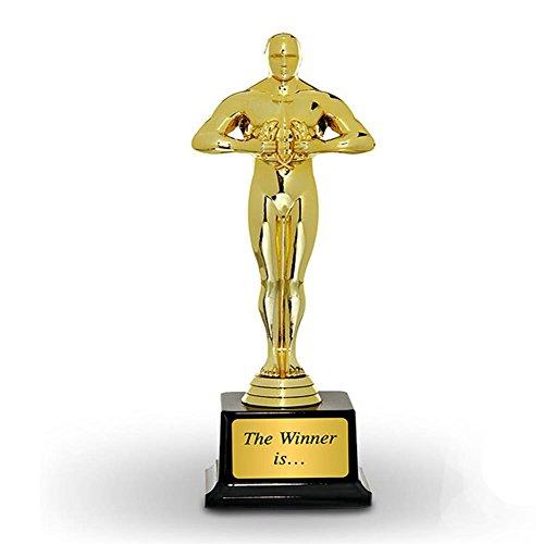 Sieger Statue Trophäe Pokal mit Aufkleber - 25 cm